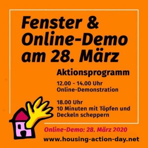 PM Online Demo zum Housing Action Day 2020 (28.03.)